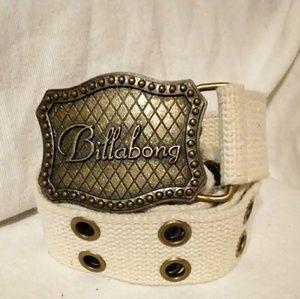 Billabong vintage belt with logo buckle